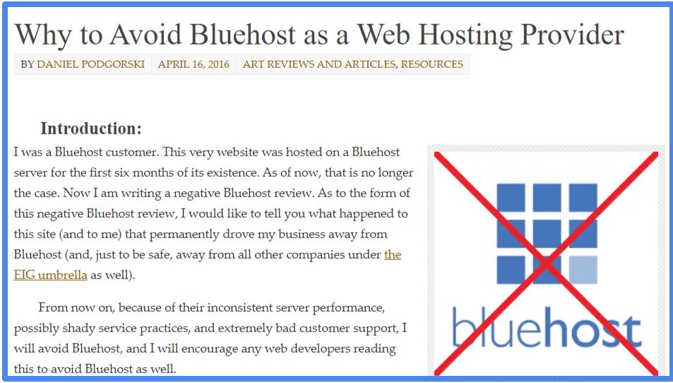 Leave Bluehost Hosting
